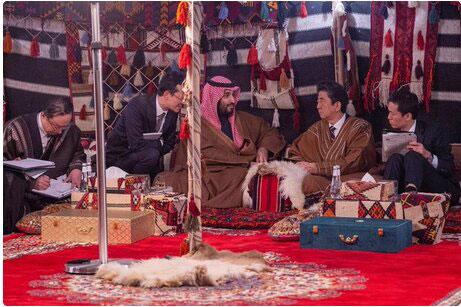 سورپرایز ولیعهد عربستان برای نخستوزیر ژاپن