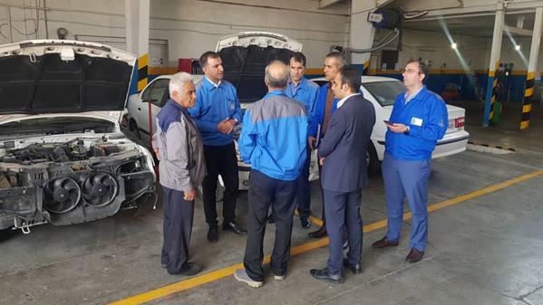گزارش تصویری از بازدید مدیران خدمات پس از فروش ایران خودرو از نمایندگی های استان مرکزی