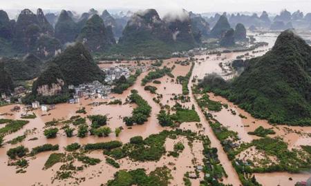 ۱۲ کشته بر اثر وقوع سیل در چین